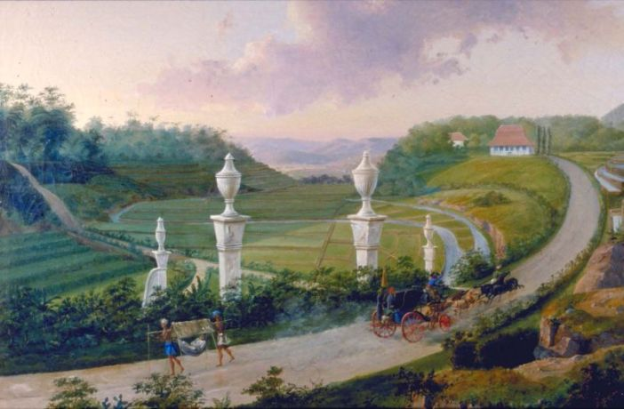 Lukisan Jalan Raya Pos (Anyer-Panarukan)